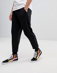 Fairplay Cropped Joggers With Raw Hem Black