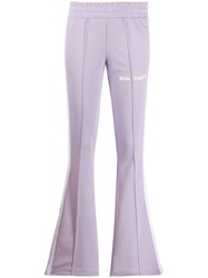 Palm Angels Flared Track Pants Purple