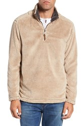 True Grit Men's Pebble Pile Quarter Zip Pullover Sand