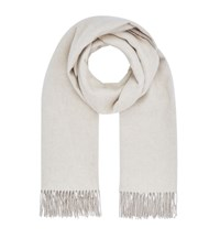 Harrods Double Faced Cashmere Scarf Brown