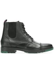 Tommy Hilfiger Lace Up Ankle Boots Black