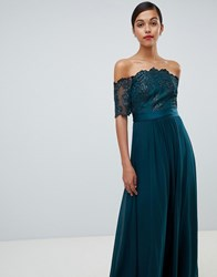 Coast Maddie Embroidery Maxi Dress Green