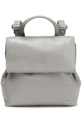 Halston Glossed Leather Backpack Stone