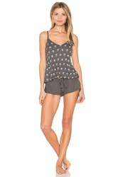 Wildfox Couture Present Galore Pajama Set Charcoal