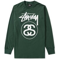 Stussy Long Sleeve Stock Link Tee Green