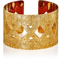 Mahnaz Collection Vintage Women's Engraved Cuff Gold