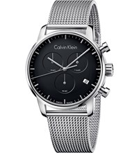 Calvin Klein City Stainless Steel Chronograph Watch Black