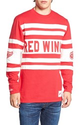 Mitchell And Ness Men's Red Wings Open Net Pullover