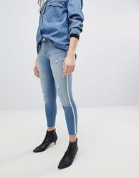 Only Skinny Jean With Pearl Embellishment Light Blue Denim