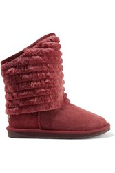 Australia Luxe Collective Shogun Shearling Ankle Boots Burgundy