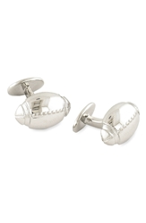 David Donahue 'Football' Sterling Silver Cuff Links Silver Football