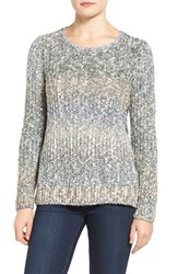 Lucky Brand Women's Lace Up Ombre Sweater
