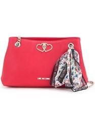 Love Moschino Scarf Detail Shoulder Bag Women Pvc One Size Red