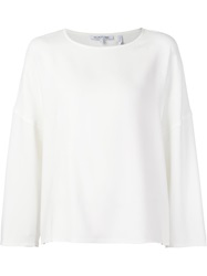 Helmut Lang Loose Fit Long Sleeve T Shirt White