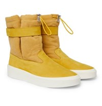 Fear Of God Suede And Canvas High Top Sneakers Yellow