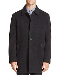 Cole Haan Wool Cashmere Topper Coat Charcoal