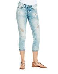 Jessica Simpson Destroyed Cropped Skinny Leg Jeans Barcelona