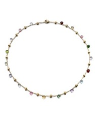 Marco Bicego Paradise Semi Precious Multi Stone And 18K Yellow Gold Station Necklace Gold Multi