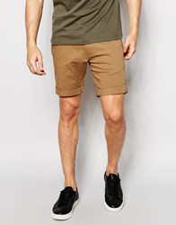 Selected Homme Chino Shorts Camel Beige