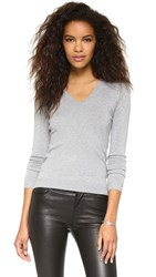 525 America Low V Neck Sweater Heather Grey