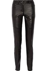 Belstaff Riley Leather Skinny Pants Black