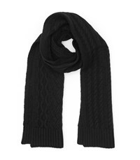 Reiss Maldon Cable Knit Scarf In Black