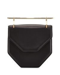 Hunter Amor Fati Leather Satchel Bag Black