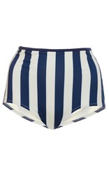 Solid And Striped Brigitte High Rise Bikini Bottom Stripe