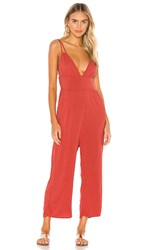 Tavik Swimwear Blair Jumpsuit In Red. Washed Red