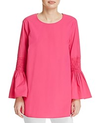 Michael Michael Kors Smocked Bell Sleeve Tunic 100 Exclusive Electric Pink