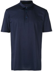 Ermenegildo Zegna Patterned Polo Men Cotton 54 Blue