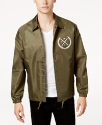 Ring Of Fire Men's Coach's Jacket Created For Macy's Green