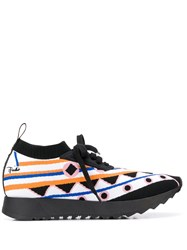 Emilio Pucci Intarsia Knit Low Top Sneakers 60
