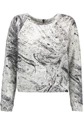 Koral Equate Printed Cotton Blend Jersey Sweatshirt White