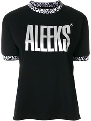 Alyx T Shirt With Embroidered Trim Cotton Polyester L Black