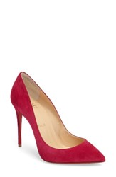 Christian Louboutin Women's Pigalle Follies Pointy Toe Pump Rosa Suede