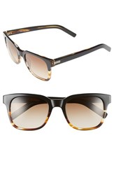 Men's Jack Spade 'Chambers' 52Mm Sunglasses Black Striated Brown