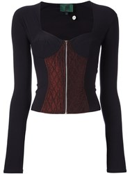 Jean Paul Gaultier Vintage Longsleeved Bustier Top Black