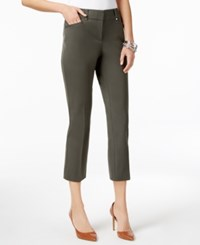 Alfani Cropped Skinny Pants Only At Macy's Steamy Grey