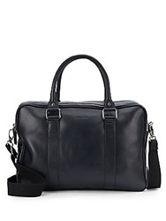Cole Haan Pebbled Leather Duffel Bag Navy