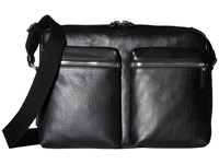Shinola Detroit Zip Top Messenger Black Bags