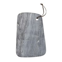 Bloomingville Marble Cutting Board With Leather Strap Grey