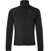 Salomon Alomon Dicovery Zip Up Mid Layer Ki Jacket Black