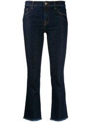 L'autre Chose Cropped Slim Fit Jeans Blue
