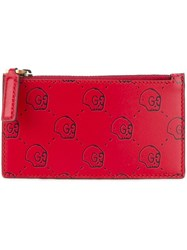 Guccighost Logo Card Holder Red