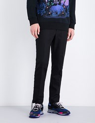 Lanvin Lace Up Regular Fit Straight Wool Trousers Black
