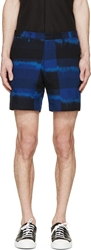 Marc By Marc Jacobs Marine Blue Ikat Plaid Shorts