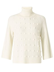 Alice By Temperley Somerset Bobble Jumper Ivory