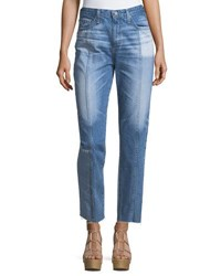 Ag Adriano Goldschmied The Phoebe High Rise Tapered Leg Jeans Indigo