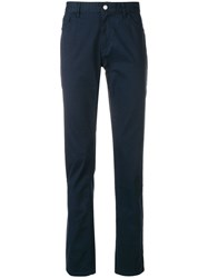 Michael Kors Collection Parker Slim Fit Trousers Blue